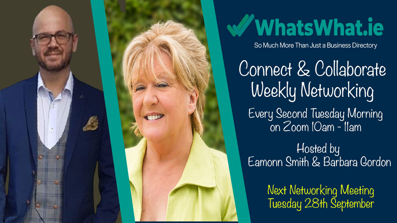 Connect and Collaborate Bi-Weekly Networking Meetings hosted by Eamonn Smith and Barbara Gordon